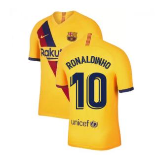2019-2020 Barcelona Away Nike Shirt (Kids) (RONALDINHO 10)