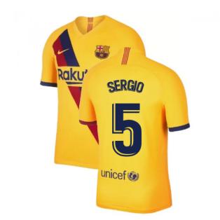 2019-2020 Barcelona Away Nike Shirt (Kids) (SERGIO 5)