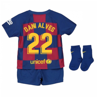 2019-2020 Barcelona Home Nike Baby Kit (DANI ALVES 22)