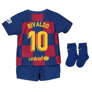 2019-2020 Barcelona Home Nike Baby Kit (RIVALDO 10)