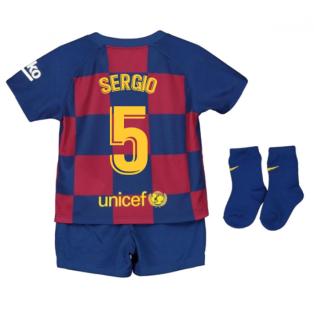 2019-2020 Barcelona Home Nike Baby Kit (SERGIO 5)