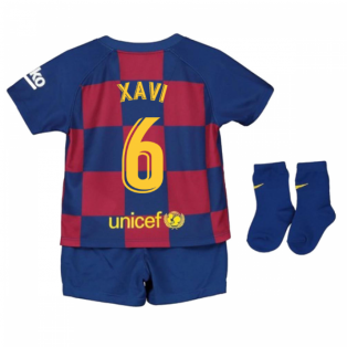 2019-2020 Barcelona Home Nike Baby Kit (XAVI 6)