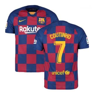 2019-2020 Barcelona Home Nike Football Shirt (COUTINHO 7)