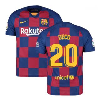 2019-2020 Barcelona Home Nike Football Shirt (DECO 20)