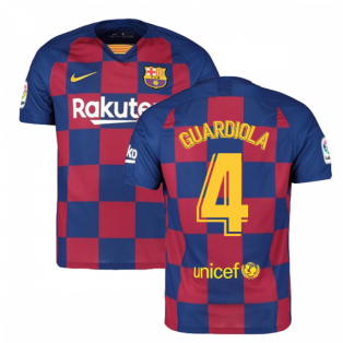 2019-2020 Barcelona Home Nike Football Shirt (GUARDIOLA 4)