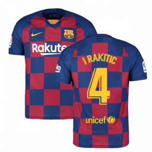 2019-2020 Barcelona Home Nike Football Shirt (I RAKITIC 4)