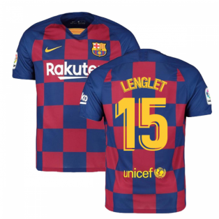 2019-2020 Barcelona Home Nike Football Shirt (LENGLET 15)