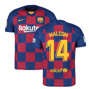 2019-2020 Barcelona Home Nike Football Shirt (MALCOM 14)