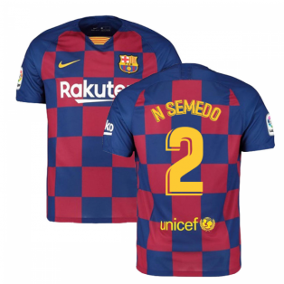 2019-2020 Barcelona Home Nike Football Shirt (N SEMEDO 2)