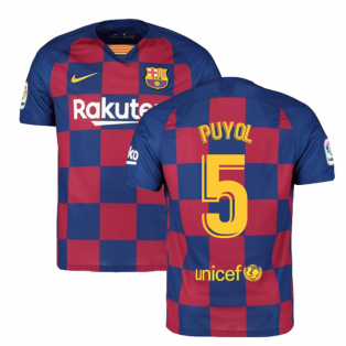 2019-2020 Barcelona Home Nike Football Shirt (PUYOL 5)