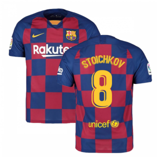 2019-2020 Barcelona Home Nike Football Shirt (STOICHKOV 8)