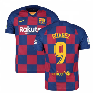 2019-2020 Barcelona Home Nike Football Shirt (SUAREZ 9)