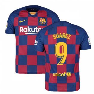 2019-2020 Barcelona Home Nike Football Shirt (SUAREZ 9)