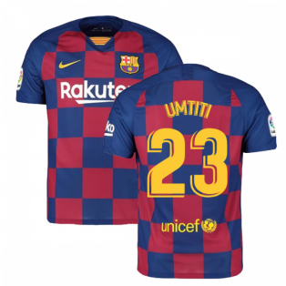 2019-2020 Barcelona Home Nike Football Shirt (UMTITI 23)