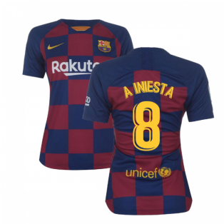 2019-2020 Barcelona Home Nike Ladies Shirt (A INIESTA 8)