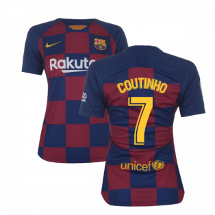 2019-2020 Barcelona Home Nike Ladies Shirt (COUTINHO 7)