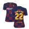 2019-2020 Barcelona Home Nike Ladies Shirt (DANI ALVES 22)
