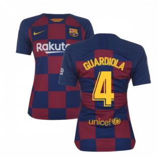 2019-2020 Barcelona Home Nike Ladies Shirt (GUARDIOLA 4)