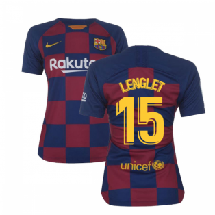 2019-2020 Barcelona Home Nike Ladies Shirt (LENGLET 15)