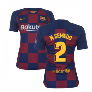 2019-2020 Barcelona Home Nike Ladies Shirt (N SEMEDO 2)