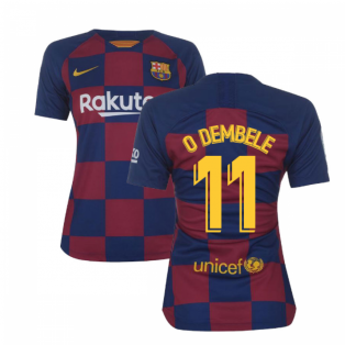 2019-2020 Barcelona Home Nike Ladies Shirt (O DEMBELE 11)
