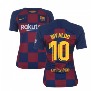 2019-2020 Barcelona Home Nike Ladies Shirt (RIVALDO 10)