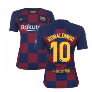 2019-2020 Barcelona Home Nike Ladies Shirt (RONALDINHO 10)