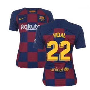 2019-2020 Barcelona Home Nike Ladies Shirt (VIDAL 22)