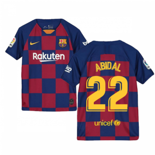 2019-2020 Barcelona Home Nike Shirt (Kids) (ABIDAL 22)