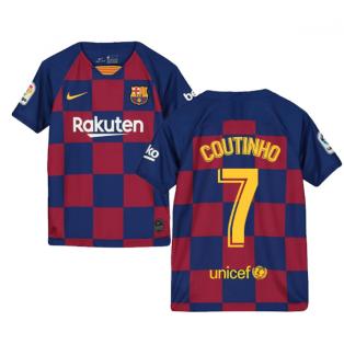 2019-2020 Barcelona Home Nike Shirt (Kids) (COUTINHO 7)