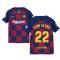 2019-2020 Barcelona Home Nike Shirt (Kids) (DANI ALVES 22)