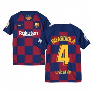2019-2020 Barcelona Home Nike Shirt (Kids) (GUARDIOLA 4)