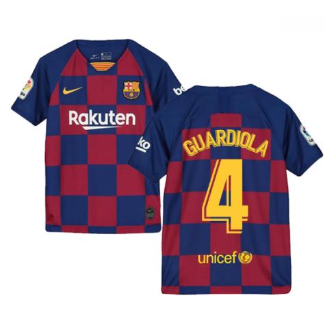 2019-2020 Barcelona Home Nike Shirt (Kids) (GUARDIOLA 4)