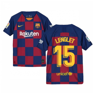 2019-2020 Barcelona Home Nike Shirt (Kids) (LENGLET 15)