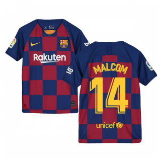 2019-2020 Barcelona Home Nike Shirt (Kids) (MALCOM 14)