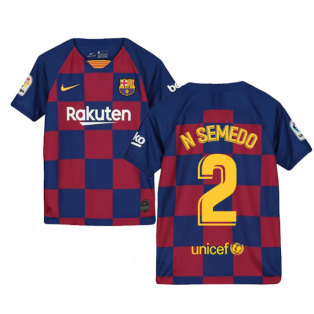 2019-2020 Barcelona Home Nike Shirt (Kids) (N SEMEDO 2)