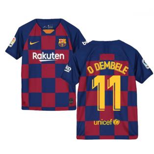 2019-2020 Barcelona Home Nike Shirt (Kids) (O DEMBELE 11)