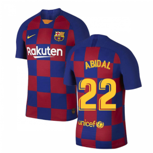 2019-2020 Barcelona Home Vapor Match Nike Shirt (Kids) (ABIDAL 22)