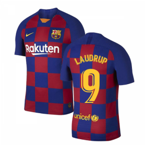 2019-2020 Barcelona Home Vapor Match Nike Shirt (Kids) (LAUDRUP 9)