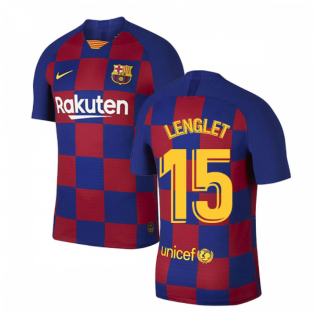 2019-2020 Barcelona Home Vapor Match Nike Shirt (Kids) (LENGLET 15)