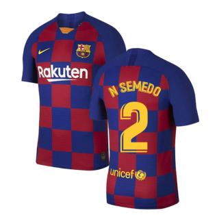 2019-2020 Barcelona Home Vapor Match Nike Shirt (Kids) (N SEMEDO 2)