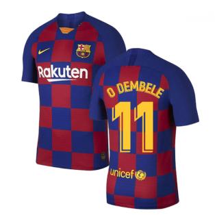 2019-2020 Barcelona Home Vapor Match Nike Shirt (Kids) (O DEMBELE 11)
