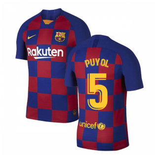 2019-2020 Barcelona Home Vapor Match Nike Shirt (Kids) (PUYOL 5)