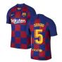 2019-2020 Barcelona Home Vapor Match Nike Shirt (Kids) (SERGIO 5)