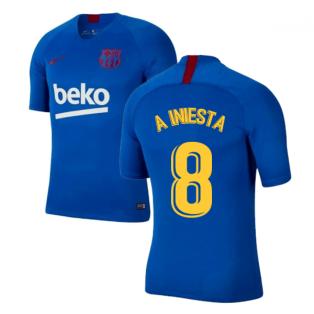 2019-2020 Barcelona Nike Training Shirt (Blue) - Kids (A INIESTA 8)