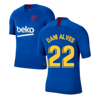 2019-2020 Barcelona Nike Training Shirt (Blue) - Kids (DANI ALVES 22)