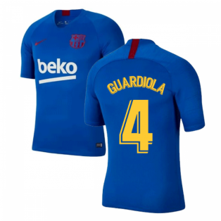 2019-2020 Barcelona Nike Training Shirt (Blue) - Kids (GUARDIOLA 4)