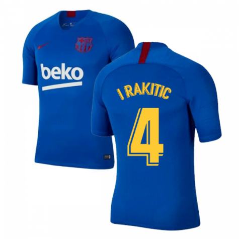 2019-2020 Barcelona Nike Training Shirt (Blue) - Kids (I RAKITIC 4)