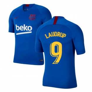 2019-2020 Barcelona Nike Training Shirt (Blue) - Kids (LAUDRUP 9)