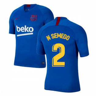 2019-2020 Barcelona Nike Training Shirt (Blue) - Kids (N SEMEDO 2)